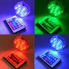 10-LED Colorful Glowing Diving LED Night Light for Decoration 4PCS - WHITE