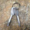 Outdoor EDC Multifunctional Tool with Keychain - SILVER