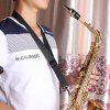Neck Strap Musical Instrument Tool for Saxophone Clarinet - BLACK