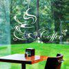 ZY8347 New Arrival Coffee Cup Removable Waterproof  Wall Sticker for Home Decoration - BLACK