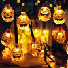 30-LED Pumpkin Grimace Style Solar Power String Light for Halloween Garden Landscape Decoration - ORANGE