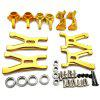 Aluminum Steering Knuckle Hub Base C Carrier Lower Suspension Arm for Wltoys A959 Vortex 1/18 RC Car - GOLD