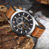 Casual Leather Band Men's Quartz Watch - MULTI-A