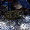Stone Shape LED Waterproof Solar Lawn Light Lámpara de exterior - GANSO GRIS