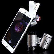 60X Clip-on Type Mobile Phone Microscope