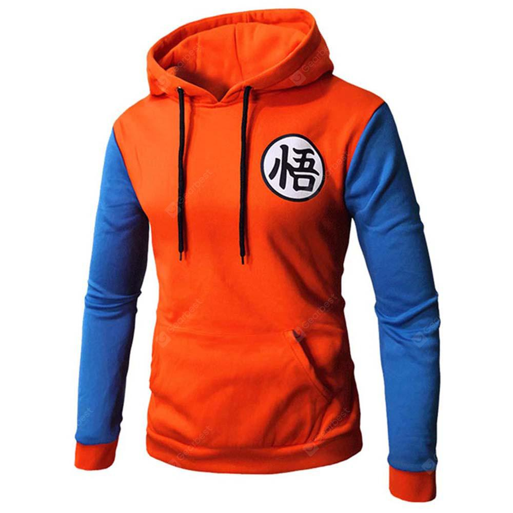 Contrast Color Baseball Casual Hoddie for Men