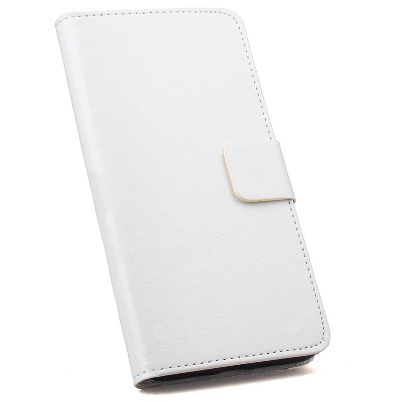 Solid Color Crazy Horse Pattern Flip-open Style Phone Case for Meizu M6 Note