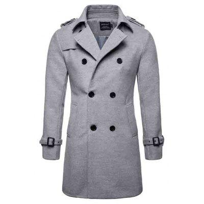 Men's Long Woolen Coat