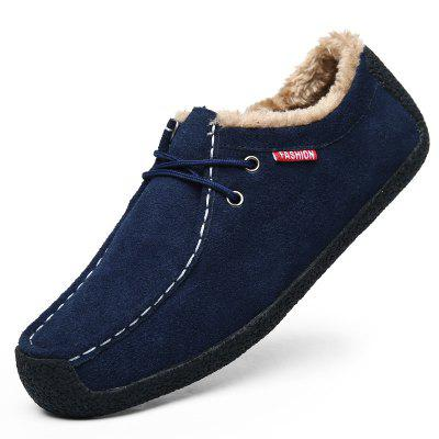 Men Casual Shoes Brushed Warm Winter