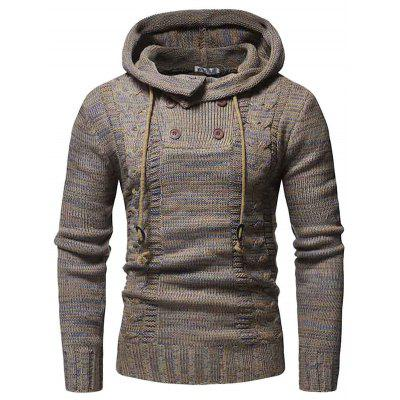 WSGYJ Heren Sweater Hooded Double Breasted