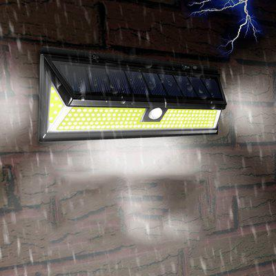 Waterproof 76-LED Solar Power Wall Light for Outdoor