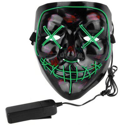 Halloween EL Wire Ghost Mask Cold LED Light up Mask Toy