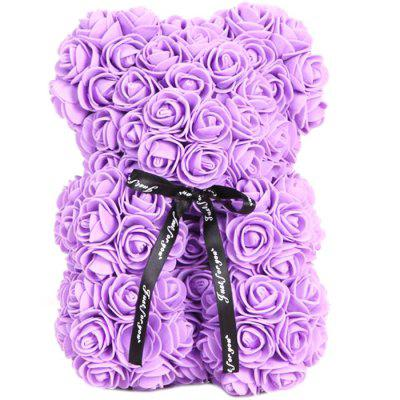 Cute Romantic Rose Bear Table Decoration