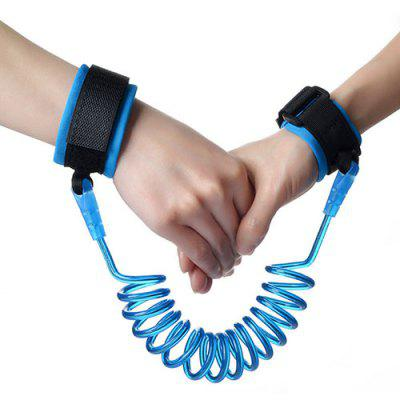 Anti-lost Wrist Link Spring Rope Traction Belt with Steel Wire