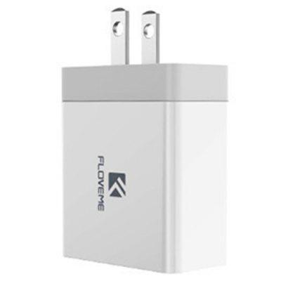 FLOVEME 5V 3.4A Dual USB Ports Charger for Samsung / iPad