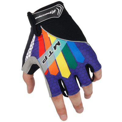 Mountainpeak Outdoor Sport Cycling Gloves with Silicone Half Fingers