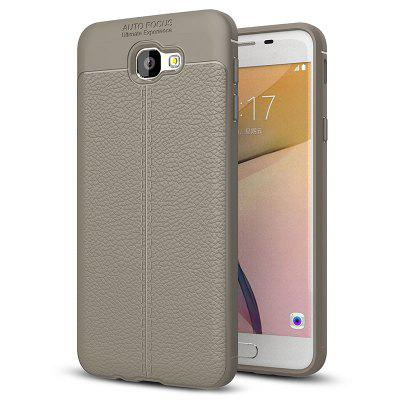 ASLING Litchi Grain TPU + PU Leather Back Cover Case for Samsung Galaxy J5 Prime