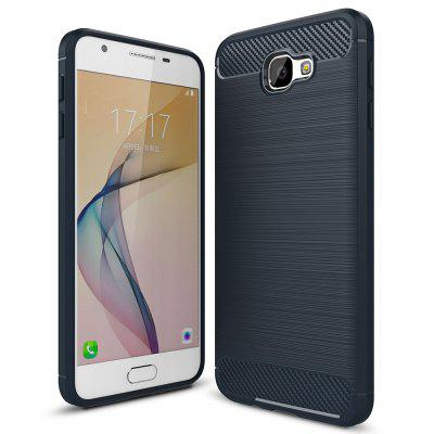 ASLING Carbon TPU Back Cover Case voor Samsung Galaxy J5 Prime