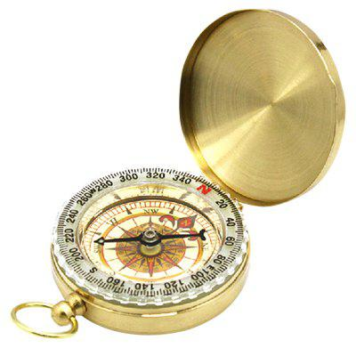 G50 Flip Luminous Compass Outdoor Copper Pocket Watch