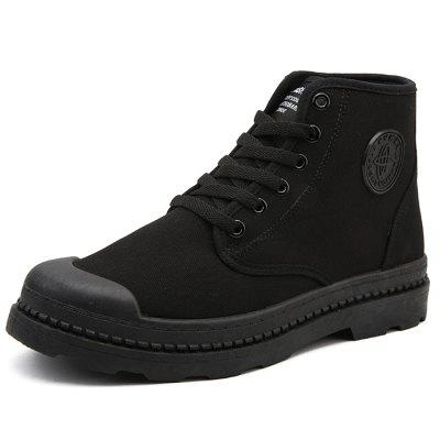 Men's High Top Canvas Boots for Winter