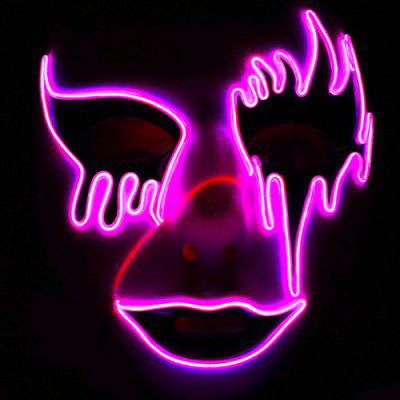 Halloween Glowing Mask Masquerade LED Scared Cosplay Props Toy