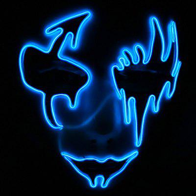 Halloween Glowing Mask Masquerade LED Scared Cosplay Props