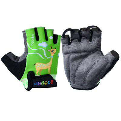 Boodun New Style Kids Breathable Comfortable Cycling Half Finger Glove