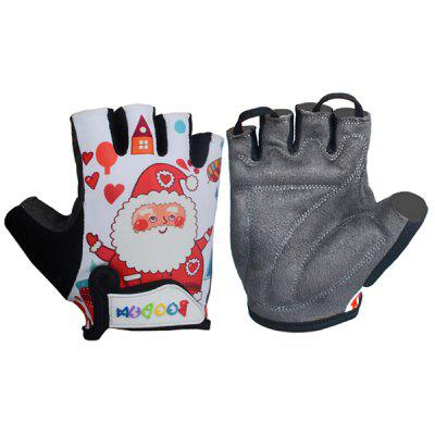 Boodun New Style Kids Breathable Comfortable Cycling Half Finger Glove L Code
