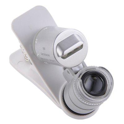 Clip-type LED Cellphone Microscope / Mini Magnifying Glass