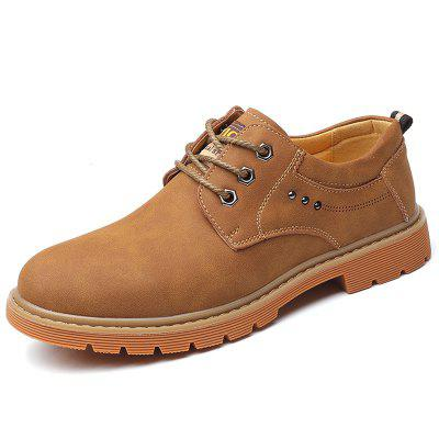 Mikroszálas bőr Oxford Boots for Men