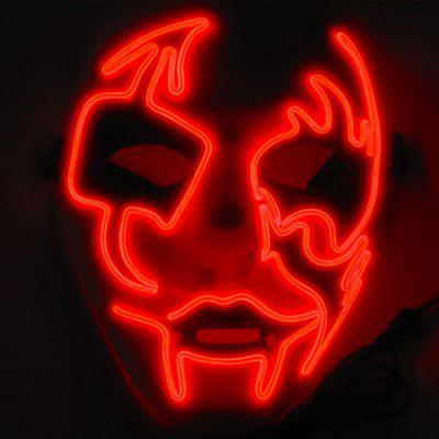 Halloween Glowing Mask LED Masquerade Scared Cosplay Props Toy
