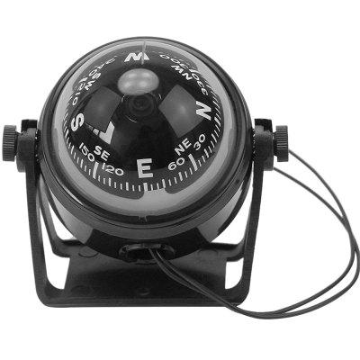 LC550 Car Boat Truck Adjustable Navigation Guide Ball Shaped Compass with Light