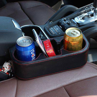 R151 - 2 Universal PU Leather Storage Box Car Seat Cup Holder Auto Stowing Tidying Phone Holders