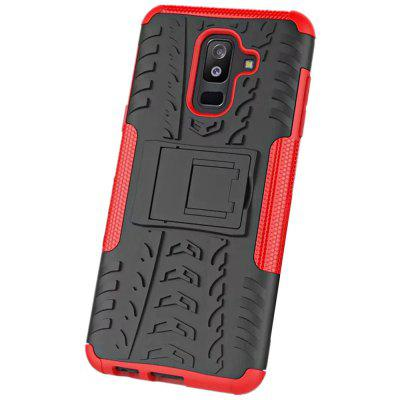 Shockproof with Stand Back Cover Armor Hard PC for Samsung A6 Plus Case