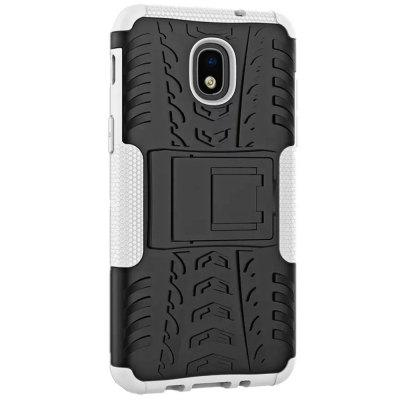 Shockproof with Stand Back Cover Armor Hard PC for Samsung Galaxy J3 2018 Case