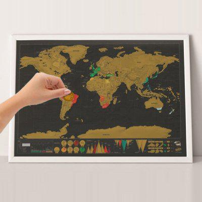 Mini Scratch-off World Map Travel Trace Recorder