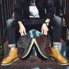Men's Casual High Top Leather Boots for Winter - BROWN