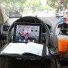 SD - 1508 Car Laptop Desk Computer Fold Down Steel Ring Wheel Work Foldable Cup Holder Stand - BLACK