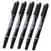 Black Double Ended Water Soluble Sign Pens Whiteboard Marker 10pcs - BLACK