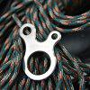 Outdoor Camping Tent Fixed Umbrella Knot Rope Buckle 5pcs - SILVER
