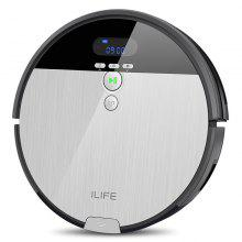 ILIFE V8S Vacuuming Mopping Robotic Cleaner with LCD Display - PLATINUM