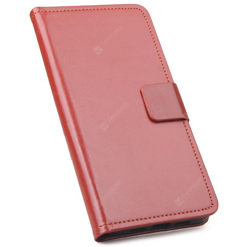 UleFone S8 Pro Contracted Crazy Horse Pattern Solid Color Flip Leather Phone Case