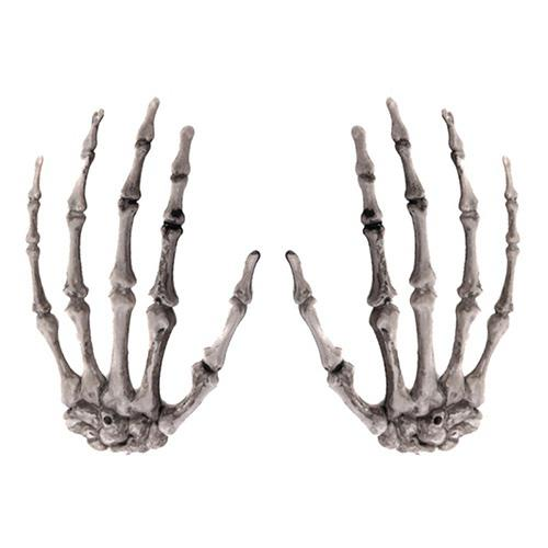 2 pcs Halloween Skeleton Hands Plastic Adornments Haunted House Decoration Home & Garden Other Christmas & Winter Décor