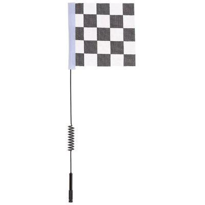 Metal Decorative Antenna with White Black Flag for 1:10 Traxxas Hsp Redcat RC4WD Tamiya Axial Scx10 D90 Hpi RC Crawler Car