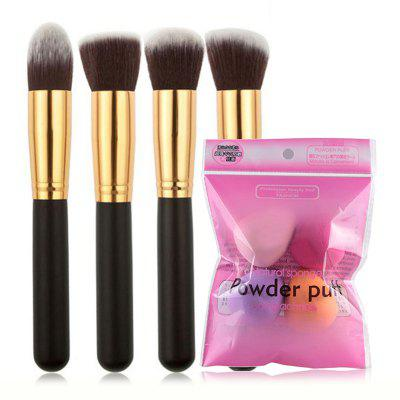 Set1052 Pincel De Maquiagem Facial Puff Puff Set