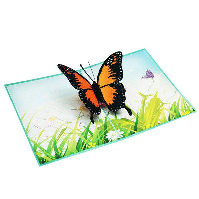 Creative 3D Butterfly Design Greeting Card