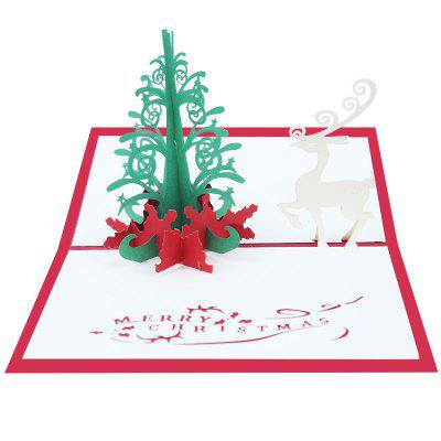 Creative 3D Design Paper Greeting Card