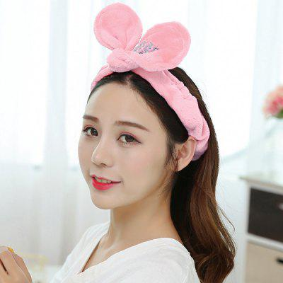 Adjustable Rabbit Ears Face Washing Hairband