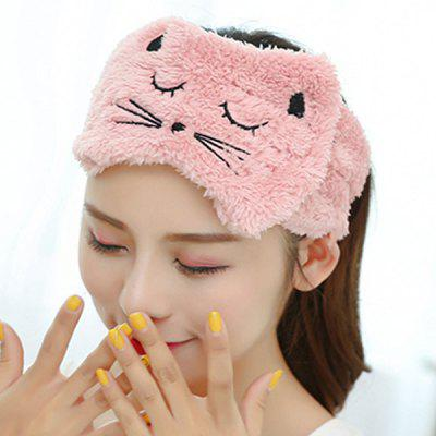 Adjustable Embroidery Cat Face Washing Hairband
