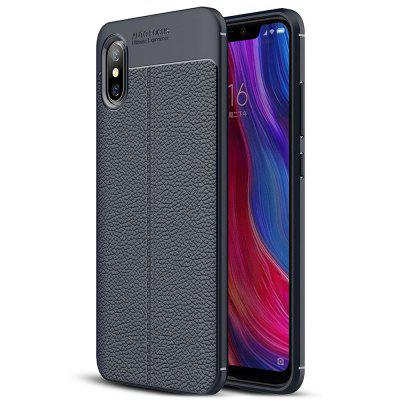ASLING Litchi Grain TPU + PU Leather Back Cover Case for Xiaomi Mi 8 Pro